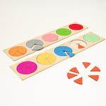Kruhové výseče - zlomky1