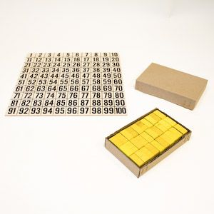 Číselná síť 1 - 100 s 30 kameny