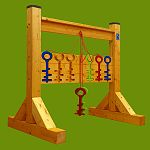 Hra - Barevné klíče s nohami