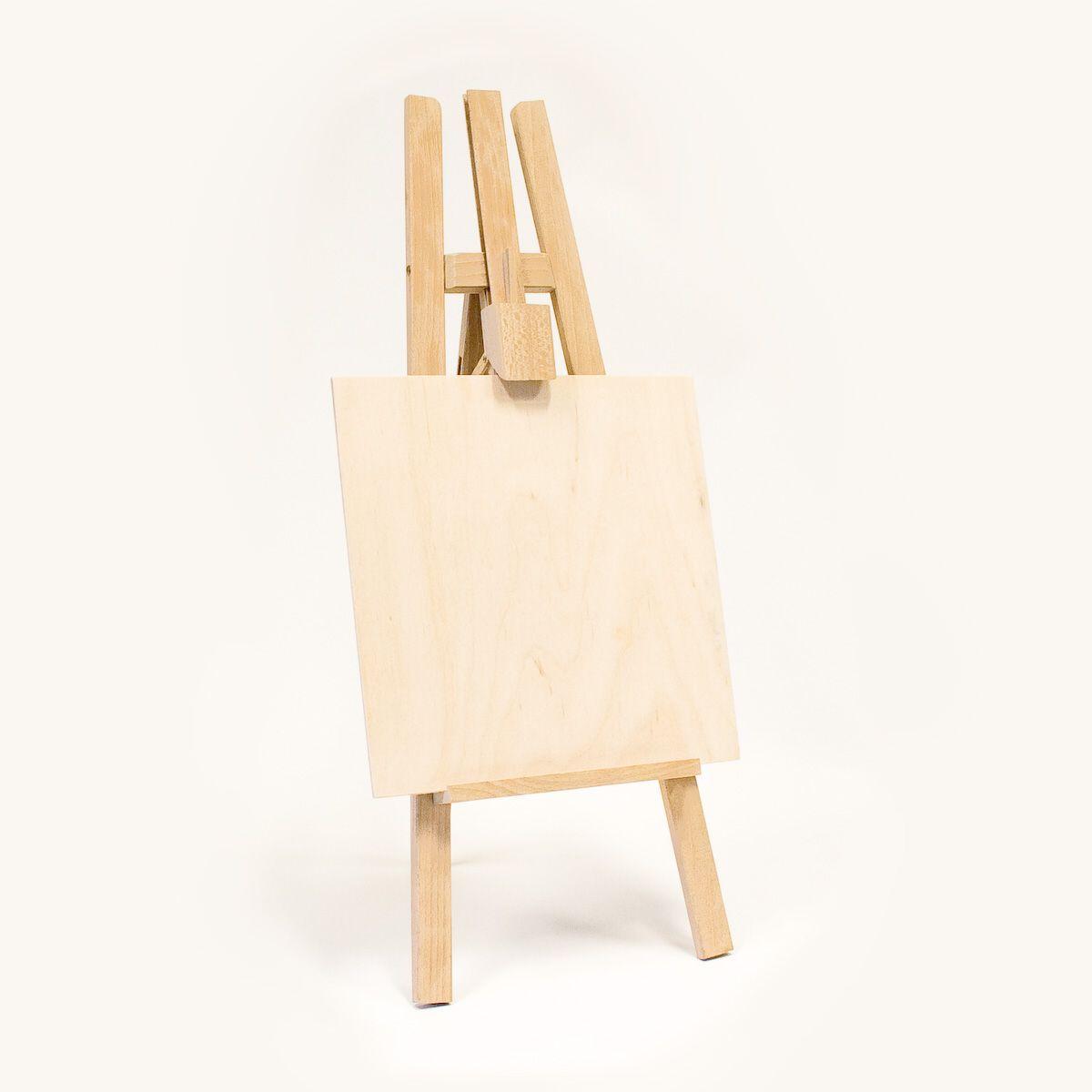 Malířský stojan na lavici
