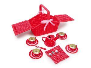 Piknikový košík červený