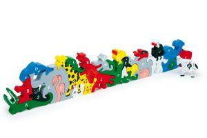 Prostorové puzzle zvířátka