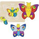 Puzzle vrstvené motýl